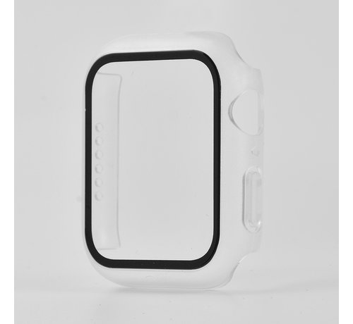 JVS Products Apple Watch 44MM Full Cover Hoesje + Screenprotector - Kunststof - TPU - Apple Watch Case - Frosted