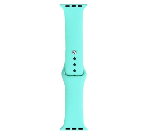JVS Products Apple Watch 42/44MM Silliconen Bandje - Silliconen - Horloge Bandje - Polsband - Apple Watch 1 / 2 / 3 / 4 / 5 / 6 / SE - Turquoise