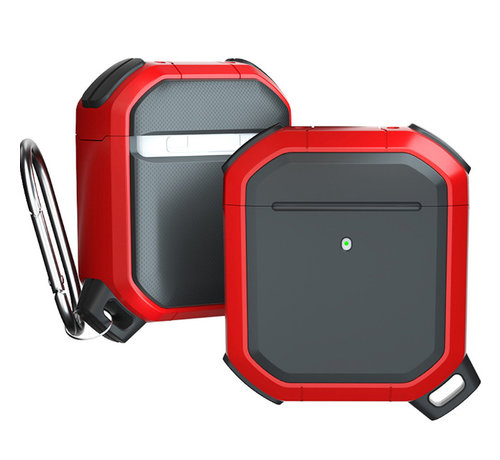 JVS Products Apple Airpods 1 en 2 Armor Case - TPU - Sleutelhanger - Hardcase - Apple Airpods - Rood