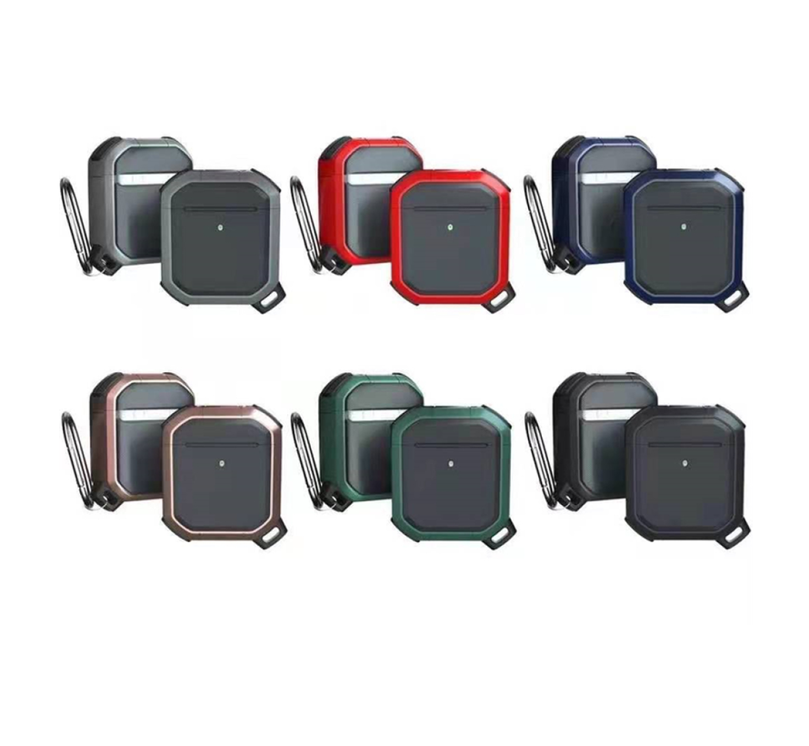 Apple Airpods Pro Armor Case - TPU - Sleutelhanger - Hardcase - Apple Airpods - Rood