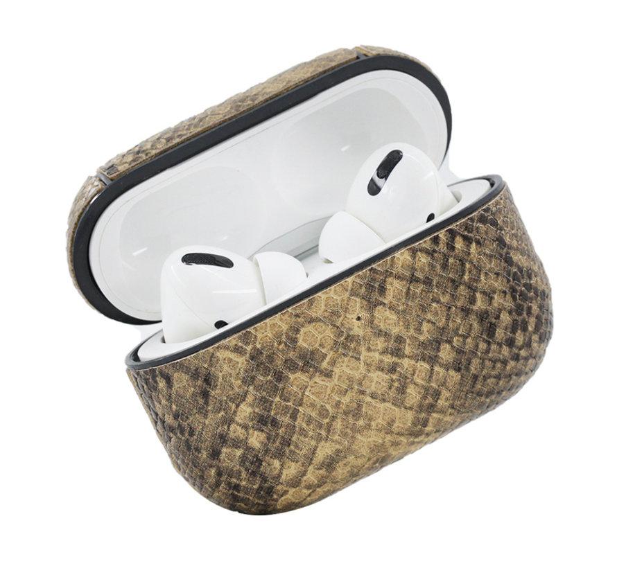 Apple Airpods 1 en 2 Slangen Print Case - TPU - Hardcase - Apple Airpods - Grijs
