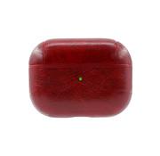JVS Products Apple Airpods Pro Lederlook Case - Leer - Hardcase - Sleutelhanger - Kunstleer - Apple Airpods - Rood