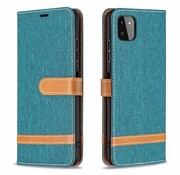 JVS Products iPhone XS Max Vintage Book Case Hoesje - stof - Bookcase - Pasjeshouder - Magnetisch - Apple iPhone XS Max - Groen