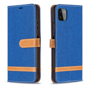 JVS Products iPhone 12 Pro Max Vintage Book Case Hoesje - stof - Bookcase - Pasjeshouder - Magnetisch - Apple iPhone 12 Pro Max - Blauw