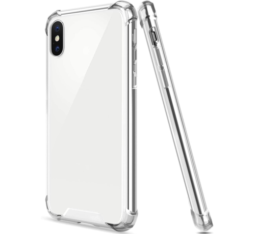 JVS Products iPhone XS Transparant Anti-Shock Back Cover Hoesje - Cover - Siliconen - Schokbestendig - Apple iPhone XS