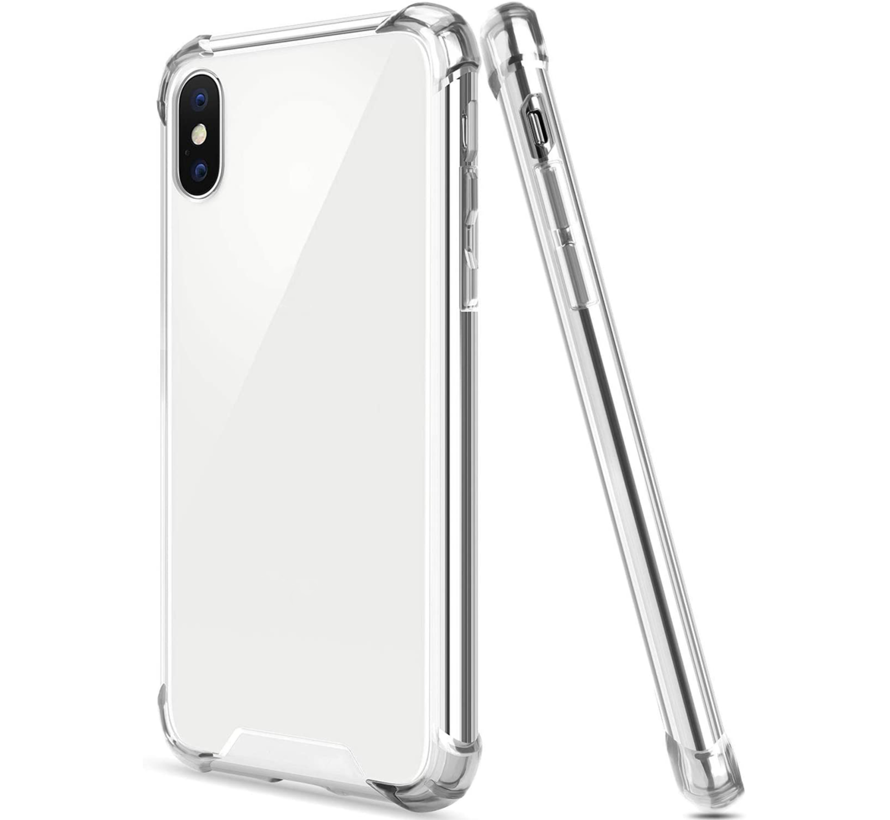 iPhone XS Transparant Anti-Shock Back Cover Hoesje - Cover - Siliconen - Schokbestendig - Apple iPhone XS