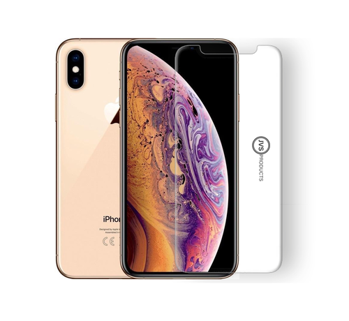 JVS Products iPhone XS Tempered Glass Screenprotector Protection Kit - Apple iPhone XS - Screen Protector Set