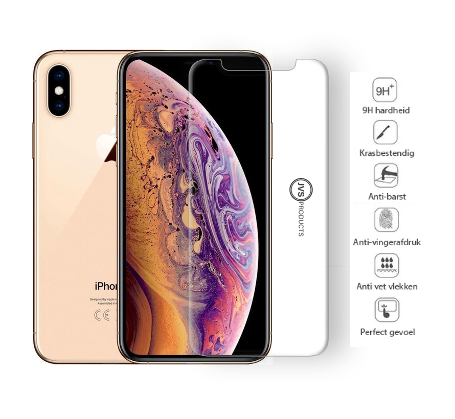 iPhone XS Tempered Glass Screenprotector Protection Kit - Apple iPhone XS - Screen Protector Set