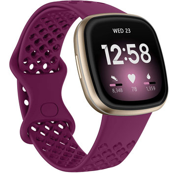 JVS Products Fitbit Versa 3 Silliconen Sportbandje - Silliconen - Horloge Bandje - Polsband - Fitbit Versa 3 - Paars