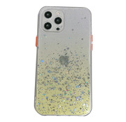 JVS Products iPhone 7 Transparant Glitter Hoesje met Camera Bescherming - Back Cover Siliconen Case TPU - Apple iPhone 7 – Geel