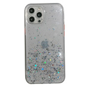 JVS Products iPhone 7 Transparant Glitter Hoesje met Camera Bescherming - Back Cover Siliconen Case TPU - Apple iPhone 7 – Transparant
