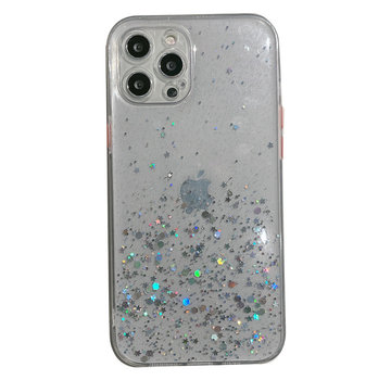 JVS Products iPhone SE 2020 Transparant Glitter Hoesje met Camera Bescherming - Back Cover Siliconen Case TPU - Apple iPhone SE 2020 – Transparant