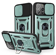 JVS Products iPhone XS Max Rugged Armor Back Cover Hoesje met Camera Bescherming - Stevig - Heavy Duty - TPU - Apple iPhone XS Max - Groen