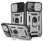 JVS Products iPhone 11 Pro Max Rugged Armor Back Cover Hoesje met Camera Bescherming - Stevig - Heavy Duty - TPU - Apple iPhone 11 Pro Max - Zilver