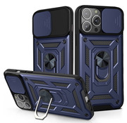 JVS Products iPhone 12 Rugged Armor Back Cover Hoesje met Camera Bescherming - Stevig - Heavy Duty - TPU - Apple iPhone 12 - Blauw