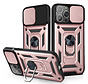 iPhone 12 Pro Max Rugged Armor Back Cover Hoesje met Camera Bescherming - Stevig - Heavy Duty - TPU - Apple iPhone 12 Pro Max - Rose Goud