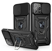 JVS Products iPhone 12 Pro Max Rugged Armor Back Cover Hoesje met Camera Bescherming - Stevig - Heavy Duty - TPU - Apple iPhone 12 Pro Max - Zwart