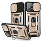 iPhone 12 Pro Max Rugged Armor Back Cover Hoesje met Camera Bescherming - Stevig - Heavy Duty - TPU - Apple iPhone 12 Pro Max - Goud