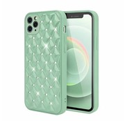 JVS Products iPhone XS Max Luxe Diamanten Back Cover Hoesje - Siliconen - Diamantpatroon - Back Cover - Apple iPhone XS Max - Lichtgroen