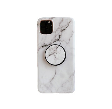JVS Products iPhone XR Back Cover Hoesje Marmer - Marmerprint - TPU - Ring Houder - Apple iPhone XR - Wit