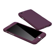 JVS Products Samsung Galaxy S21 Full Body Hoesje - 2-delig Hoesje - Hard Kunststof - Back Cover - Samsung Galaxy S21 - Paars