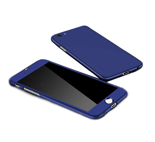 JVS Products Samsung Galaxy A12 Full Body Hoesje - 2-delig Hoesje - Hard Kunststof - Back Cover - Samsung Galaxy A12 - Blauw