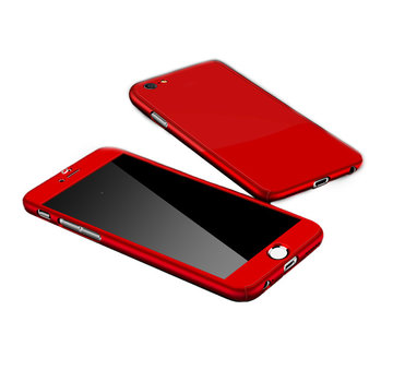 JVS Products Samsung Galaxy A51 Full Body Hoesje - 2-delig Hoesje - Hard Kunststof - Back Cover - Samsung Galaxy A51 - Rood