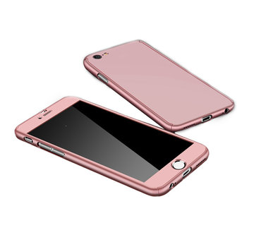 JVS Products Samsung Galaxy A51 Full Body Hoesje - 2-delig Hoesje - Hard Kunststof - Back Cover - Samsung Galaxy A51 - Rose Goud