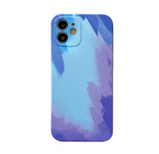 JVS Products iPhone 12 Back Cover Hoesje met Patroon - TPU - Siliconen - Backcover - Apple iPhone 12 - Blauw / Lichtblauw