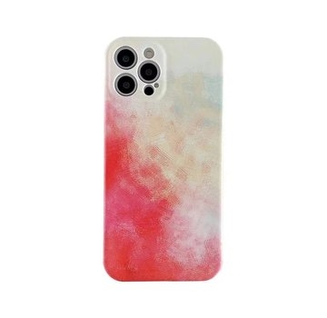 JVS Products iPhone 12 Back Cover Hoesje met Patroon - TPU - Siliconen - Backcover - Apple iPhone 12 - Geel / Rood