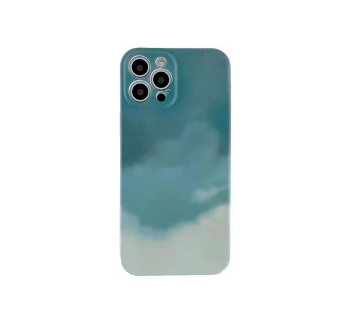 JVS Products iPhone 12 Pro Max Back Cover Hoesje met Patroon - TPU - Siliconen - Backcover - Apple iPhone 12 Pro Max - Lichtgroen / Groen