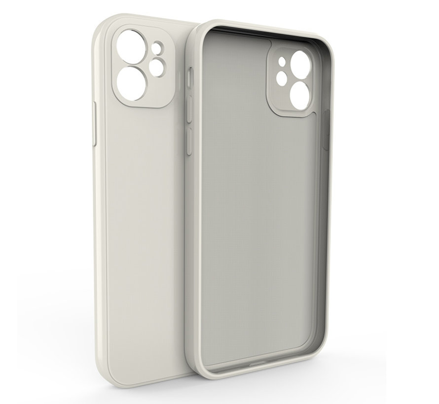 iPhone 11 Pro Max Back Cover Hoesje - TPU - Backcover - Apple iPhone 11 Pro Max - Gebroken Wit