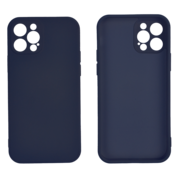 JVS Products iPhone 12 Back Cover Hoesje - TPU - Backcover - Apple iPhone 12 - Donkerblauw