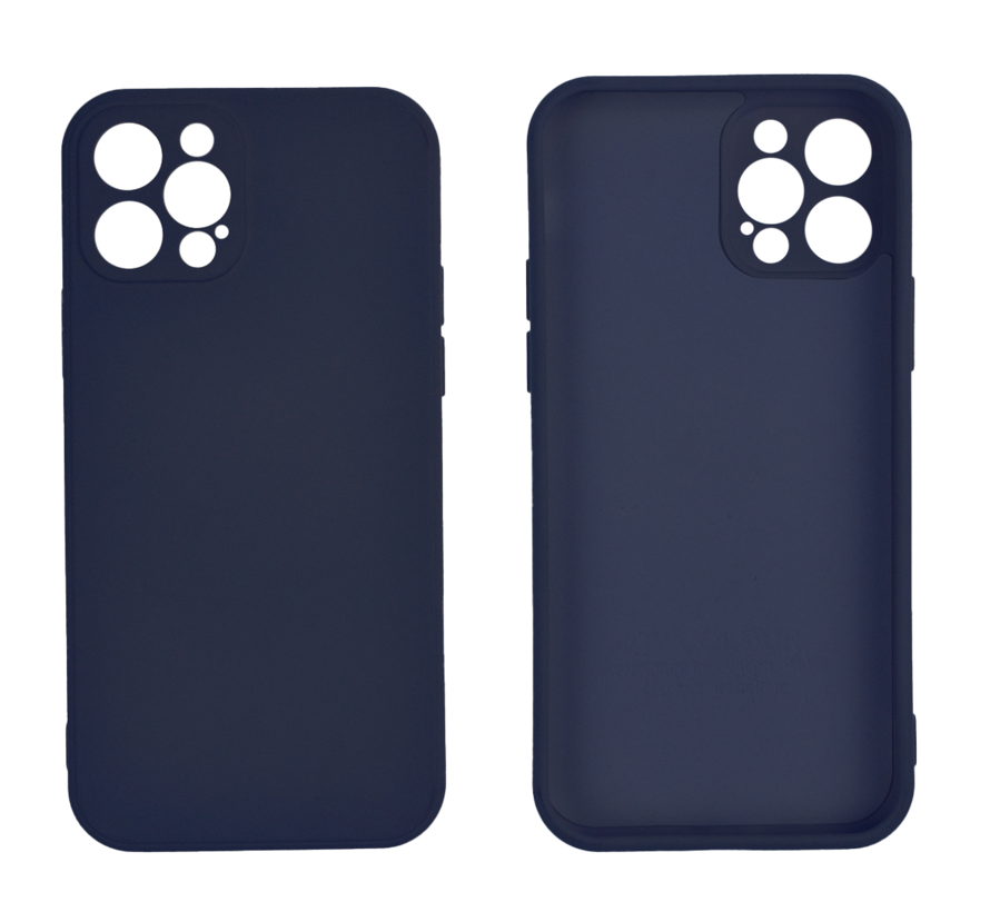 iPhone 12 Back Cover Hoesje - TPU - Backcover - Apple iPhone 12 - Donkerblauw
