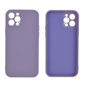 JVS Products iPhone 12 Back Cover Hoesje - TPU - Backcover - Apple iPhone 12 - Lila