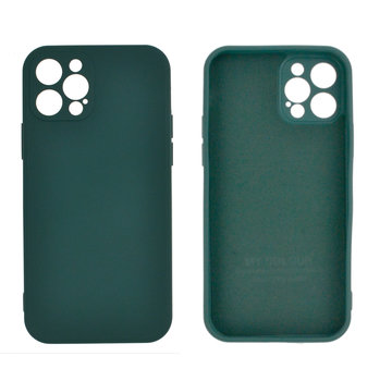 JVS Products iPhone 12 Back Cover Hoesje - TPU - Backcover - Apple iPhone 12 - Donkergroen
