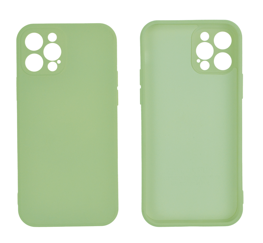 iPhone 12 Back Cover Hoesje - TPU - Backcover - Apple iPhone 12 - Lichtgroen