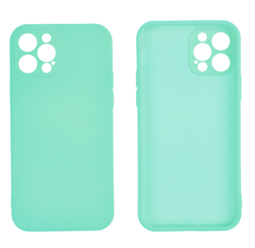 JVS Products iPhone 12 Back Cover Hoesje - TPU - Backcover - Apple iPhone 12 - Turquoise