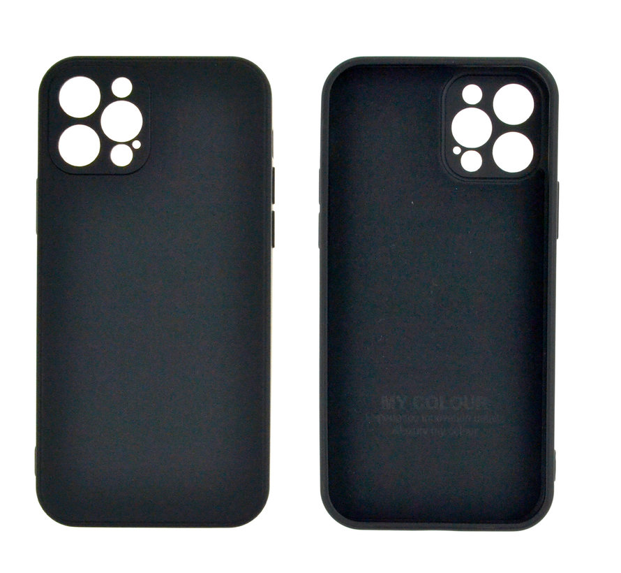 iPhone 12 Back Cover Hoesje - TPU - Backcover - Apple iPhone 12 - Zwart