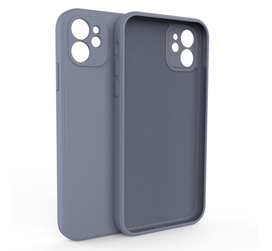 iPhone 12 Back Cover Hoesje - TPU - Backcover - Apple iPhone 12 - Paars / Blauw