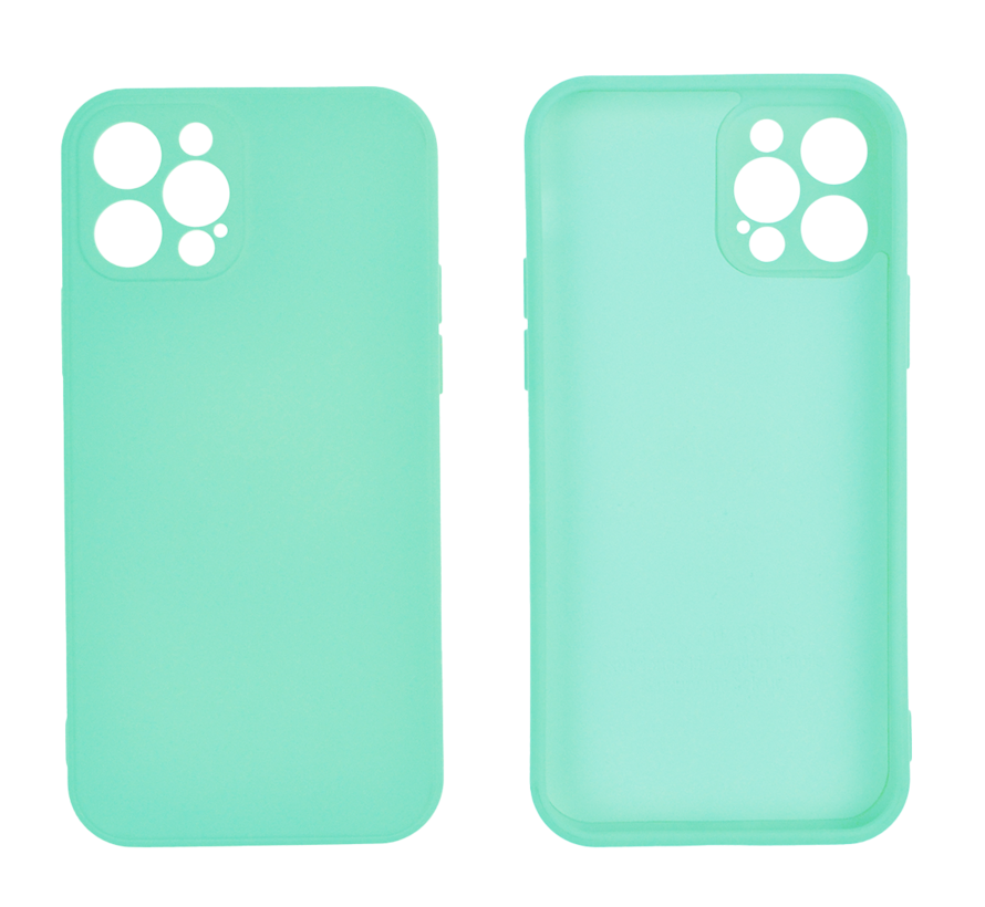 iPhone 12 Pro Back Cover Hoesje - TPU - Backcover - Apple iPhone 12 Pro - Turquoise