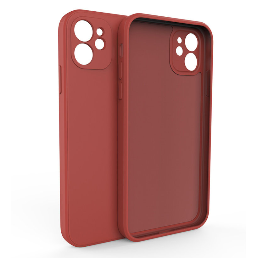 iPhone 12 Pro Back Cover Hoesje - TPU - Backcover - Apple iPhone 12 Pro - Rood