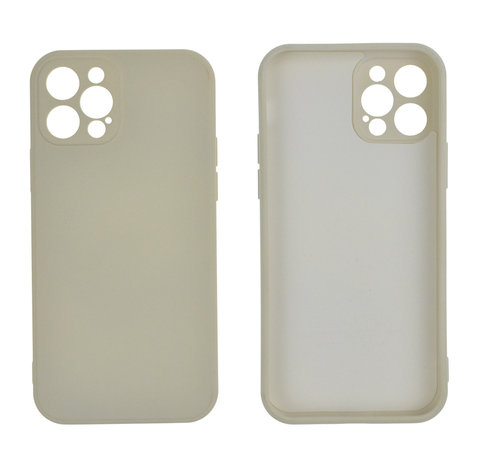 JVS Products iPhone 12 Pro Max Back Cover Hoesje - TPU - Backcover - Apple iPhone 12 Pro Max - Gebroken Wit