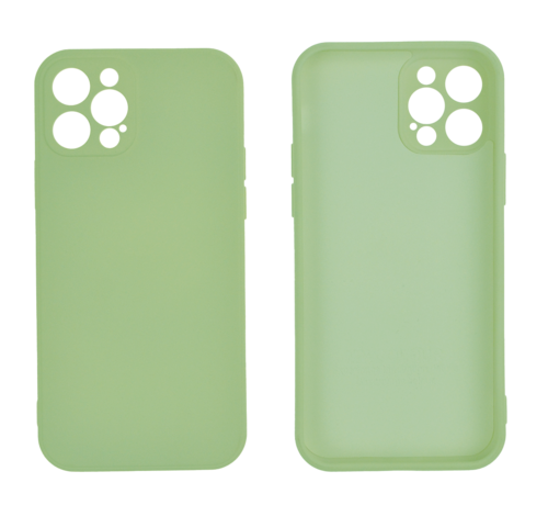 JVS Products iPhone 12 Pro Max Back Cover Hoesje - TPU - Backcover - Apple iPhone 12 Pro Max - Lichtgroen