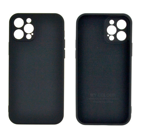 JVS Products iPhone 12 Pro Max Back Cover Hoesje - TPU - Backcover - Apple iPhone 12 Pro Max - Zwart