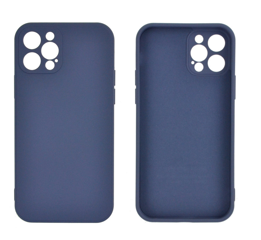 iPhone 12 Pro Max Back Cover Hoesje - TPU - Backcover - Apple iPhone 12 Pro Max - Paars / Blauw