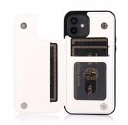 JVS Products Apple iPhone 11 Back Cover Hoesje - Pasjeshouder - Leer - Portemonnee - Magneetsluiting - Flipcover - Apple iPhone 11 - Wit