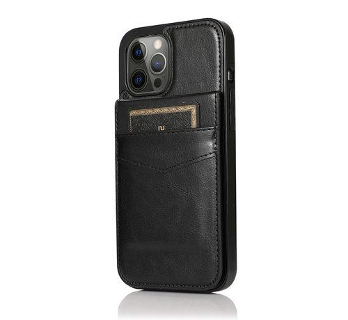 JVS Products Apple iPhone X/10 Back Cover Hoesje - Pasjeshouder - Leer - Portemonnee - Flipcover - Apple iPhone X/10 - Zwart