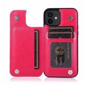 JVS Products Apple iPhone XR Back Cover Hoesje - Pasjeshouder - Leer - Portemonnee - Magneetsluiting - Flipcover - Apple iPhone XR - Roze