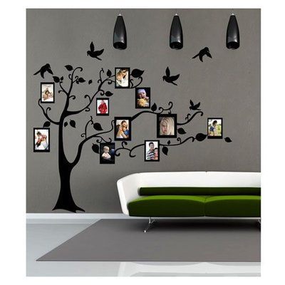 Coart velours muursticker Family Tree